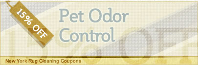 Cleaning Coupons | 15% off pet odor control | New York Rug Cleaning
