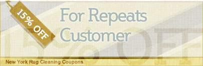 Cleaning Coupons | 15% off repeat customers for all services | New York Rug Cleaning