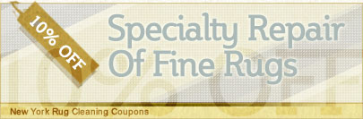 Cleaning Coupons | 10% off rug repair | New York Rug Cleaning